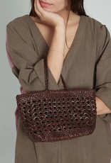 Cannage Bucket Bag Mini Brown