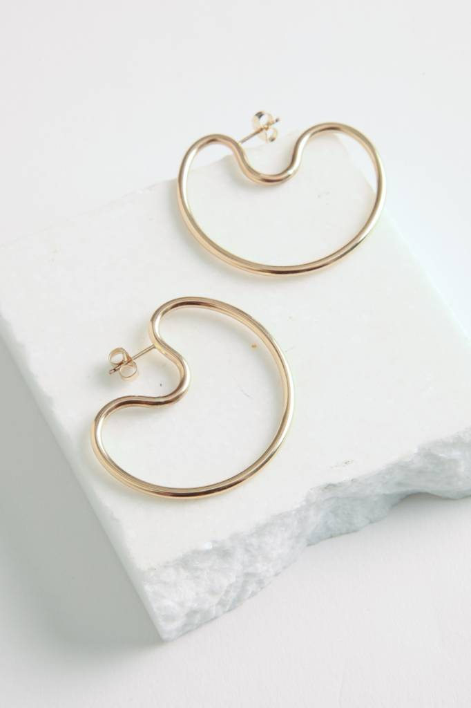 Small Indented Hoops