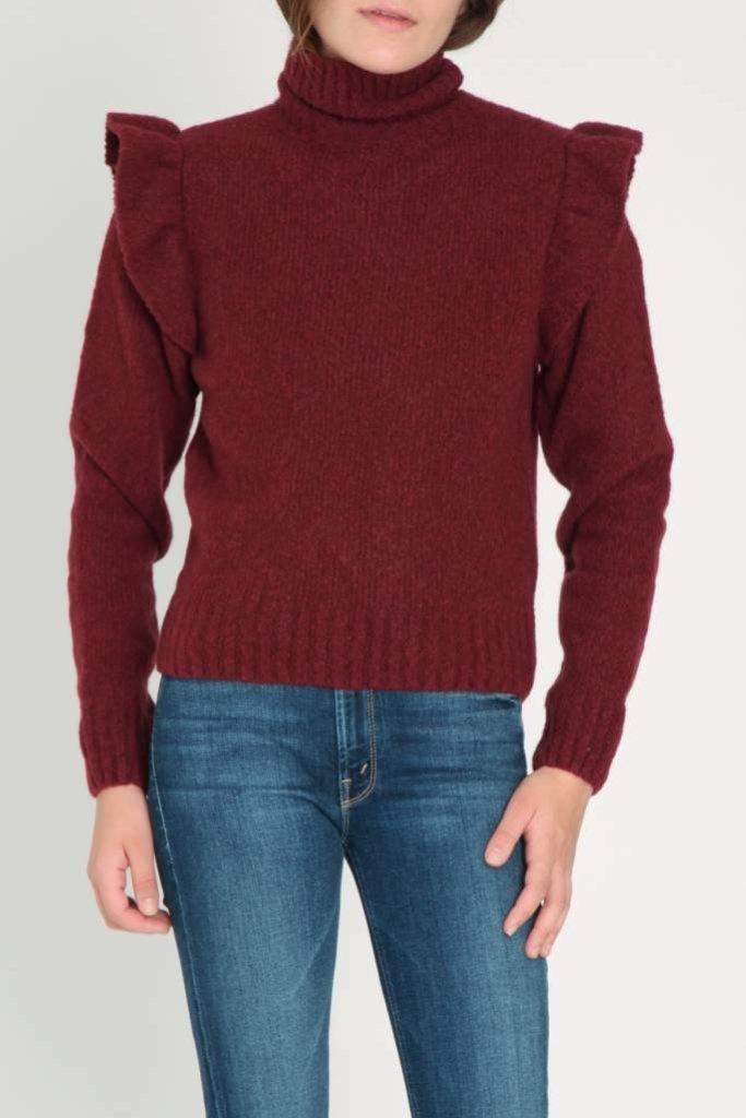 masscob Masscob Ruffle Shoulder Sweater