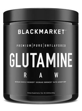 Black Market Labs Glutamine Raw, 60 Servings, 300 gms