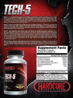 Hardcore Formulations Tech-5, 90 capsules
