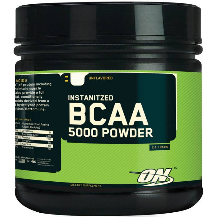 Optimum Nutrition BCAA 5000 Powder, Unflavored, 60 Servings