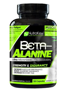NutraKey Beta Alanine, 120 Capsules