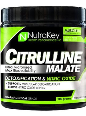 NutraKey Citrulline Malate 200 grams, 100 Servings