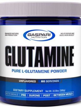 Gaspari Glutamine 300gms, Unflavored, 60 Servings