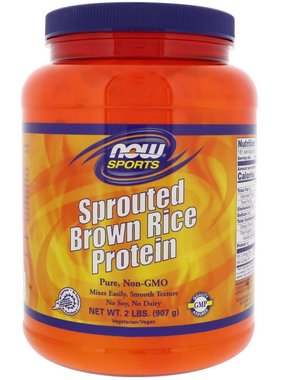 NOW Foods Sprouted Brown Rice Protein, Unflavored, 2 lb