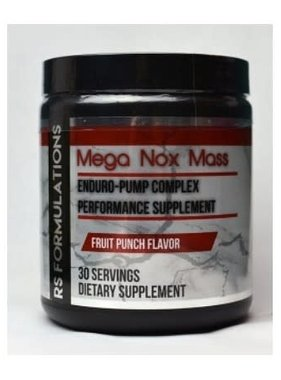 Rock Solid Formulations Mega Nox Mass, Fruit Punch, 30 Servings