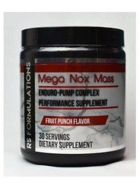 Rock Solid Formulations Mega Nox Mass, Fruit Punch, 30 Servings