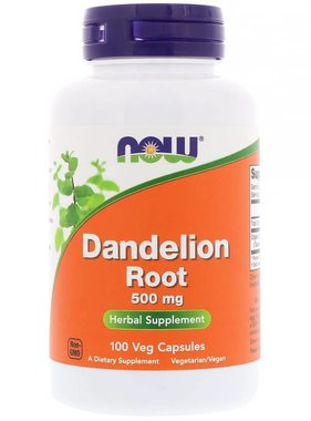 NOW Foods Dandelion Root 500 mg, 100 Capsules