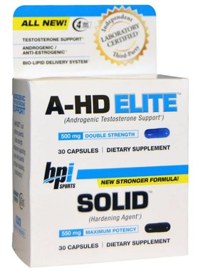 bpi A-Hd Elite/Solid Combo, 30 Capsules, 30 Capsules