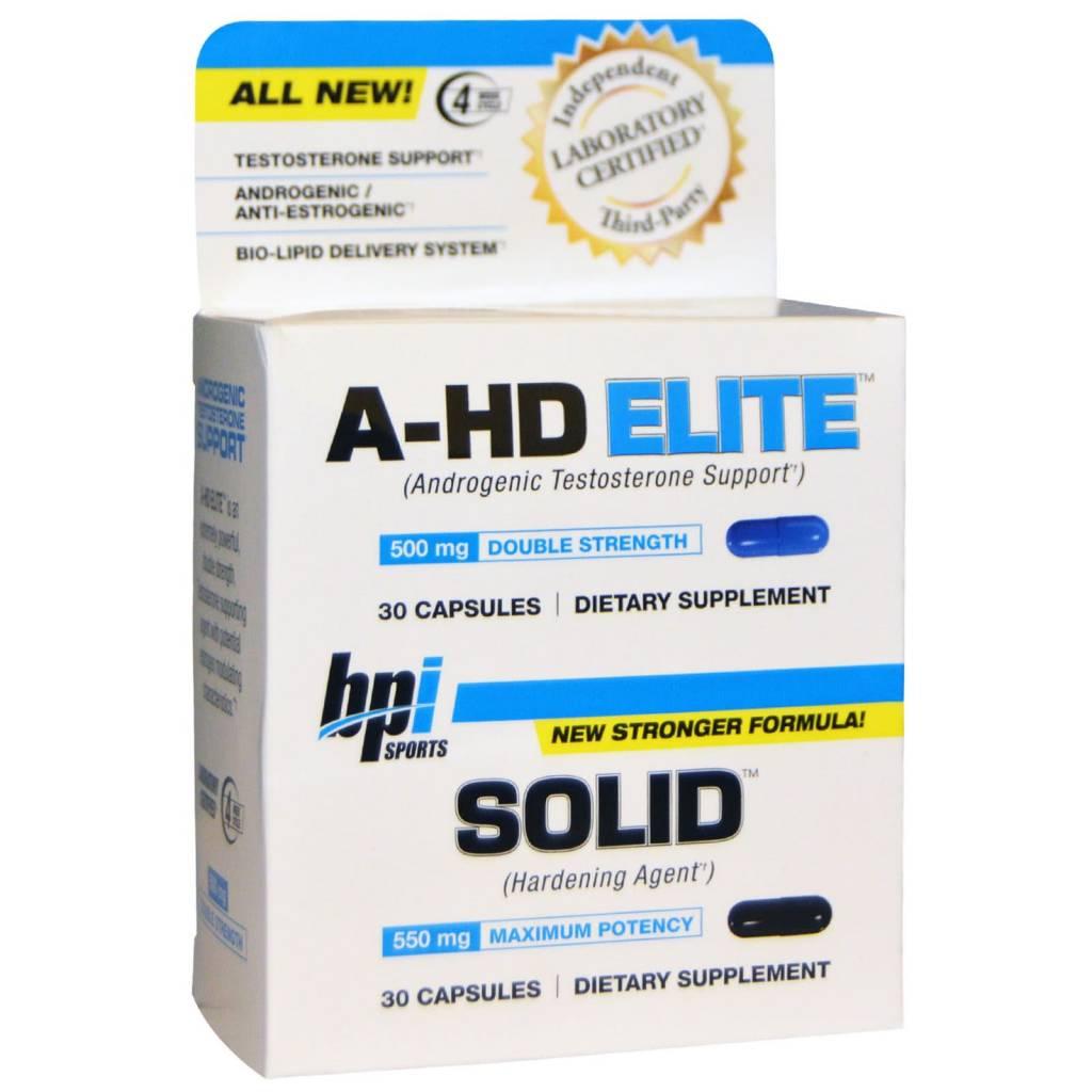 bpi A-Hd Elite/Solid Combo, 30 Capsules, 30 Capsules