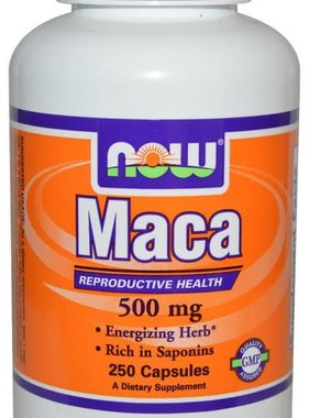 NOW Foods Maca 500 mg, 250 Capsules