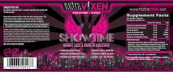 Nutra Vixen Showtime, 60 caps