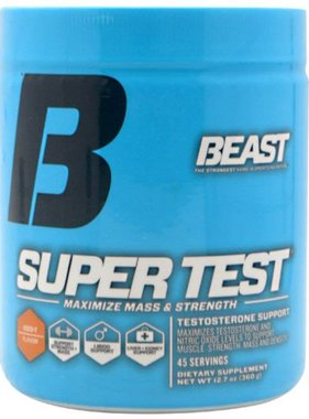 Beast Sports Nutrition Super Test Powder, Iced T, 45 Servings