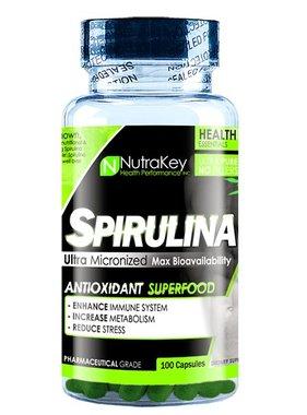 NutraKey Spirulina, 100 Capsules
