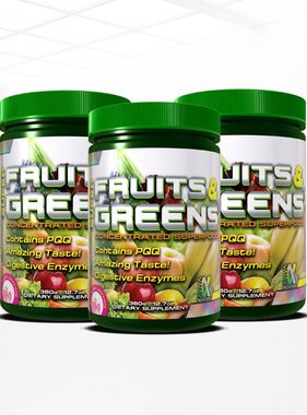 Duracap Super Fruits and Greens, Raspberry Lemonade, 30 servings