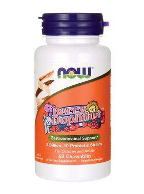 NOW Foods Berry Dophilus, Probiotic, 60 chewables