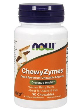 NOW Foods ChewyZymes, Berry , 90 Chewables