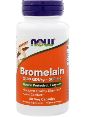 NOW Foods Bromelain 500mg, 60 Vcapsules