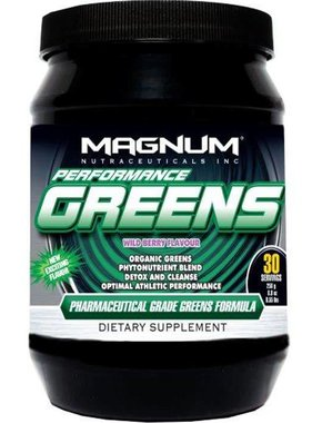 Magnum Nutraceuticals Performance Greens, Wild Berry, 30 Servings