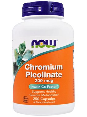 NOW Foods Chromium Picolinate 200mcg , 250 capsules