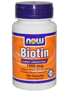 NOW Foods Biotin 1000 mcg , 100 capsules