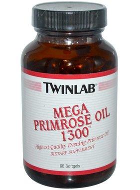 TwinLab Mega Primrose Oil 1300, 60 Softgels