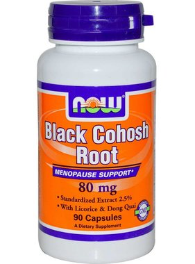 NOW Foods Black Cohosh Root 80mg, 90 capsules