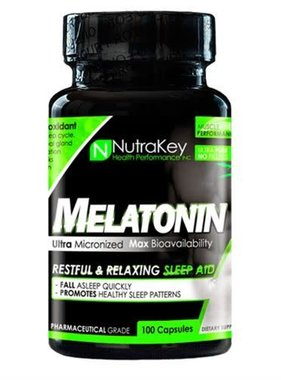 NutraKey Melatonin, 100 Capsules