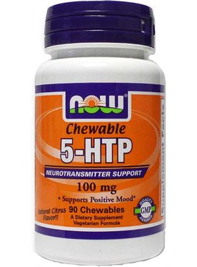 NOW Foods 5-HTP 100mg, 90 Chewables