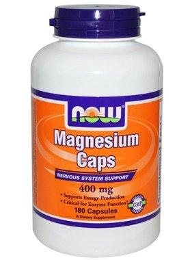 NOW Foods Magnesium 400mg, 180 Capsules