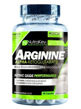 NutraKey Arginine, 100 Capsules