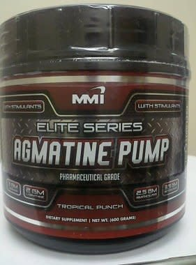 MMI Nutrition MMI Agmatine Pump w/ Stimulants, Tropical Punch, 40 Servings