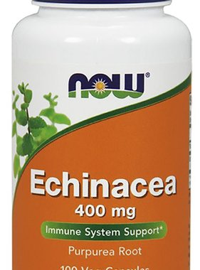 NOW Foods Echinacea, 400mg, 100cap