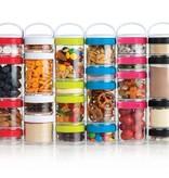 Blender Bottle Blender Bottle, GoStak Starter, Assorted Colors, 4Pak