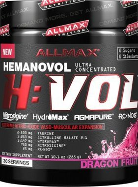 AllMax Nutrition H:Vol, Dragon Fruit Punch 30 Servings