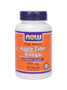 NOW Foods Apple Cider Vinegar, 450mg, 180 capsules