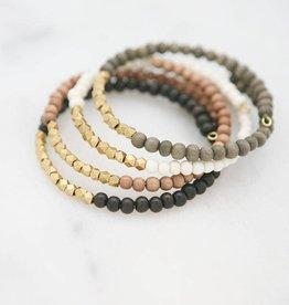 Stone & Stick Golden Row Wire Bracelet