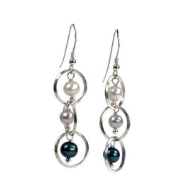 Erica Zap Pearls & Linked Circle Drop Earrings