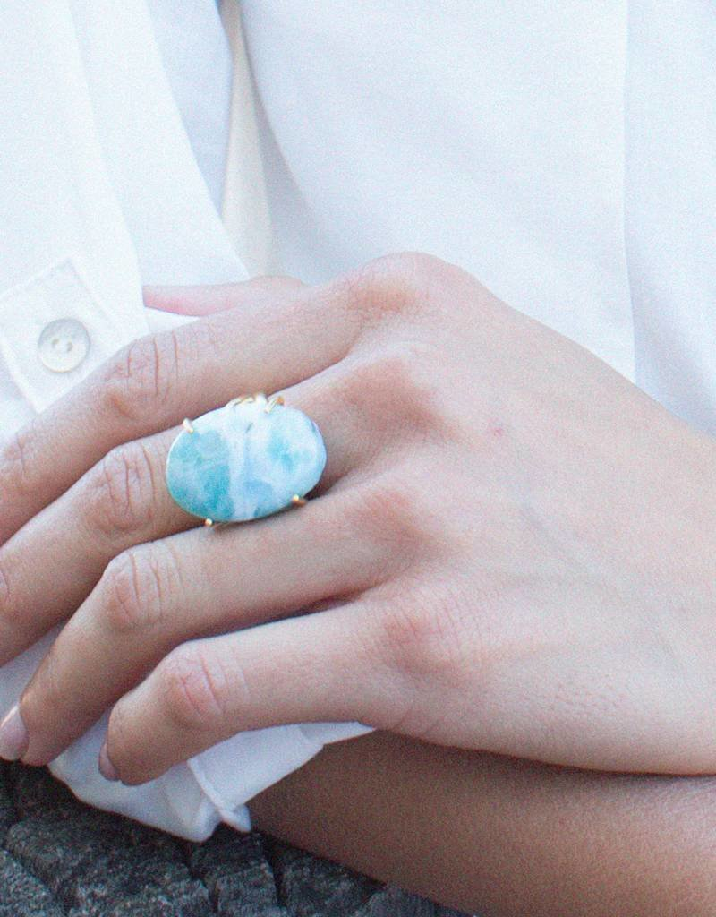 Taylor Kenney Larimar Prong Ring