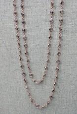 Stella Blue Midnight Madness Necklace, RG, black crystal