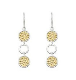Anna Beck Multi Circle Drop Earring, two tone