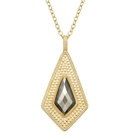"""Anna Beck Pyrite Kite Necklace, 30"""", double sided"""