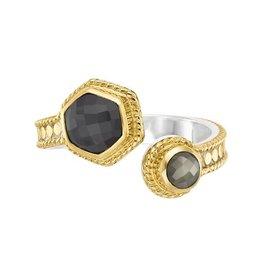 Anna Beck Grey Sapphire & Pyrite Wrap Ring