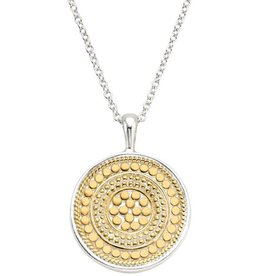 Anna Beck Signature Medallion Pendant Necklace, reversible