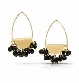 Bree Richey Half Moon Earrings with Black Onyx