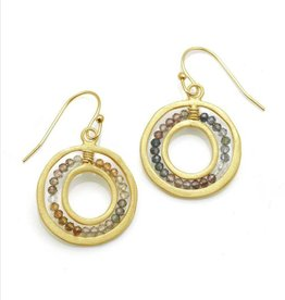 Philippa Roberts Open Circle with Sapphires Vermeil Earrings