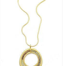 Philippa Roberts Open Circle with Sapphires Vermeil Necklace