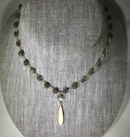 Philippa Roberts Vermeil Drop on Labradorite Coins Necklace