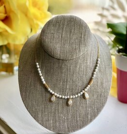 """Anna Beck Howlite & Agate Bead Necklace, 16-18"""""""